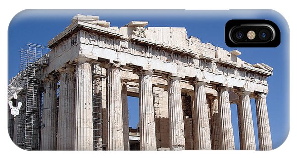 Greece iPhone Case - Parthenon Front Facade by Jane Rix
