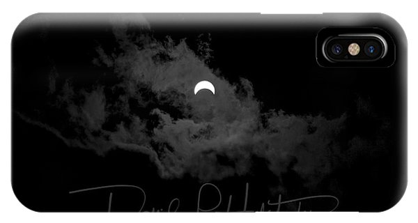 IPhone Case featuring the photograph Partial Eclipse, Signed. by David P Hufstader