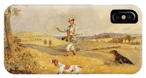 Shooting iPhone Case - Partridge Shooting  by Henry Thomas Alken