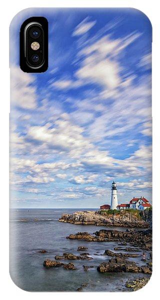 Passing Clouds At Portland Head Light IPhone Case
