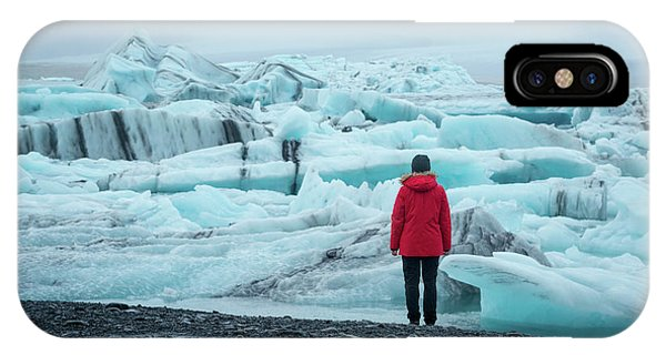Glacier Bay iPhone Case - Passing Icebergs  by Michael Ver Sprill
