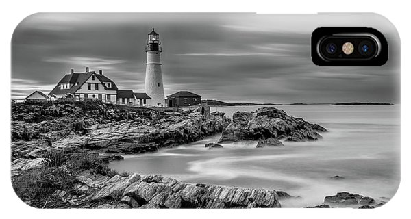 Passing Storm At Portland Head Light IPhone Case