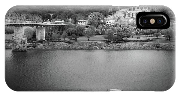 Passing Storm In Chattanooga Black And White IPhone Case