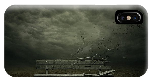 Dark Clouds iPhone Case - Passing by Zoltan Toth