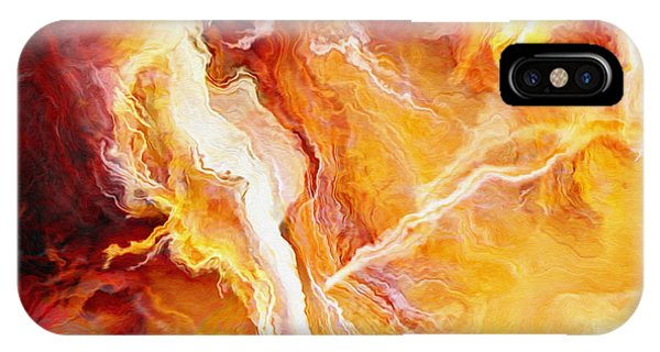 Passion - Abstract Art - Triptych 2 Of 3 IPhone Case