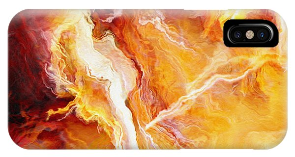 IPhone Case featuring the mixed media Passion - Abstract Art - Triptych 2 Of 3 by Jaison Cianelli