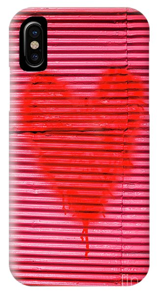 Exterior iPhone Case - Passionate Red Heart For A Valentine Love by Jorgo Photography - Wall Art Gallery