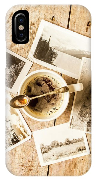 No People iPhone Case - Past Time Tea by Jorgo Photography - Wall Art Gallery