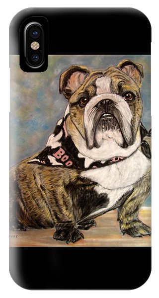 Pastel English Brindle Bull Dog IPhone Case
