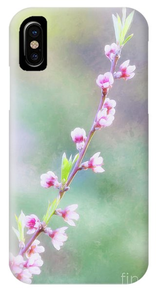 Pastel Painted Peach Blossoms IPhone Case