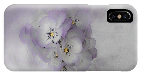 Pastel Pansies Still Life IPhone Case