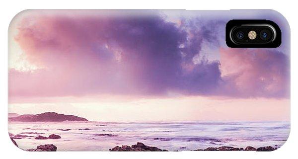Beautiful Sunrise iPhone Case - Pastel Purple Seashore by Jorgo Photography - Wall Art Gallery