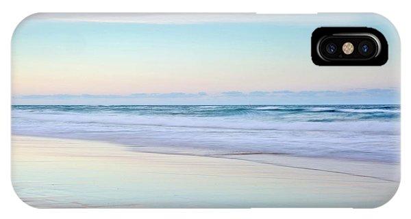 Tidal Waves iPhone Case - Pastel Reflections by Az Jackson
