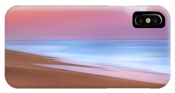 Pastel Sunset And Moonrise Over Hutchinson Island Beach, Florida. IPhone Case