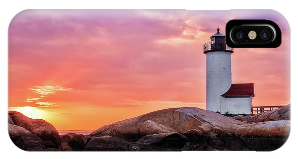 Pastel Sunset, Annisquam Lighthouse IPhone Case