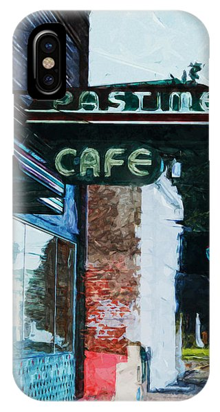 Cafe iPhone Case - Pastime Cafe- Art By Linda Woods by Linda Woods