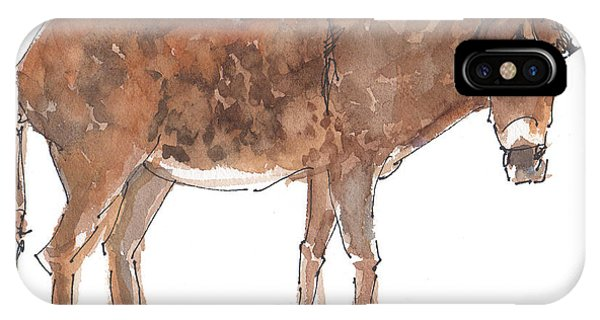 Pasture Boss 2015 Watercolor Painting By Kmcelwaine IPhone Case