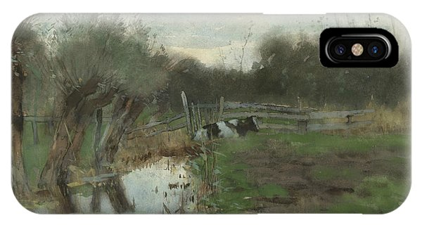 Pasture With Cow IPhone Case