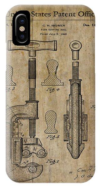 Patent Art Pipe Cutter 1945 IPhone Case