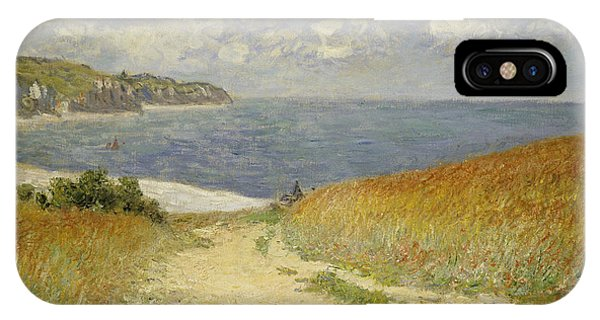 Impressionism iPhone X Case - Path In The Wheat At Pourville by Claude Monet