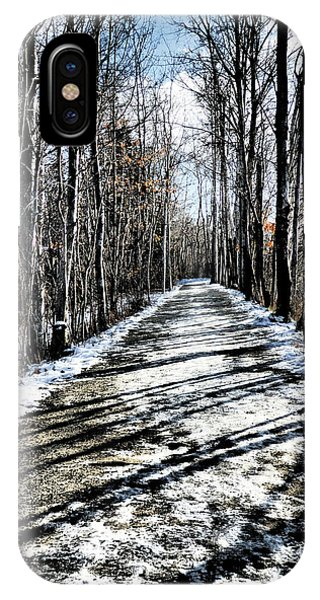 Path In Winter IPhone Case