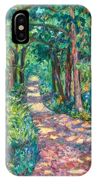 IPhone Case featuring the painting Path On Sharp Top by Kendall Kessler