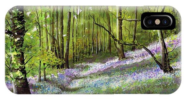 iPhone Case - Path Through Bluebell Wood by Paul Dene Marlor