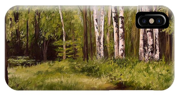 Path To The Birches IPhone Case