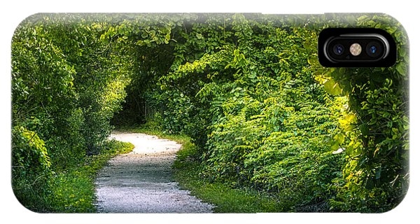 Hiking Path iPhone Case - Path To The Secret Garden by Marvin Spates