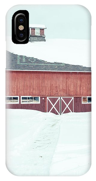 New England Barn iPhone Case - Path To To The Old Red Barn by Edward Fielding