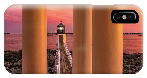 IPhone Case featuring the photograph Marshall Point - Beacon Of Light by Expressive Landscapes Fine Art Photography by Thom