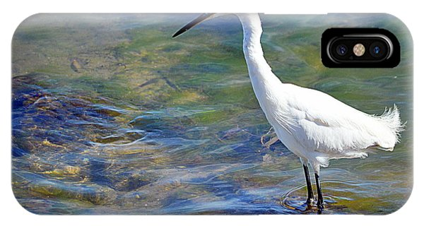 Patient Egret IPhone Case