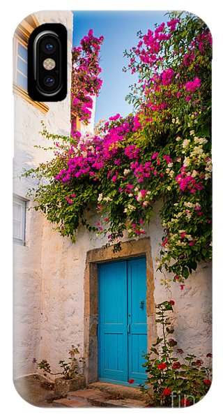 Greece iPhone Case - Patmos Bougainvillea by Inge Johnsson