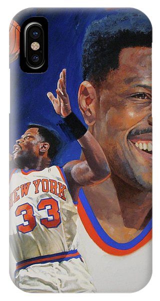 IPhone Case featuring the painting Patrick Ewing by Cliff Spohn