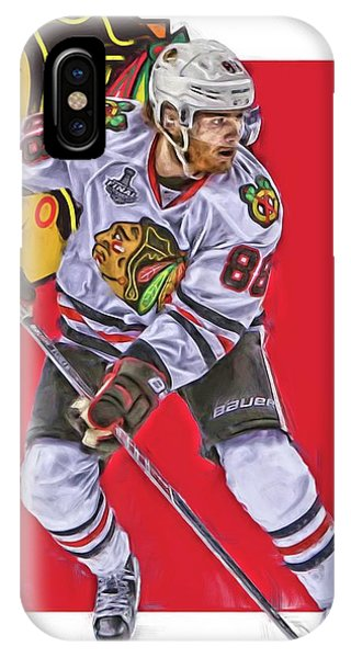 Winter iPhone Case - Patrick Kane Chicago Blackhawks Oil Art Series 2 by Joe Hamilton