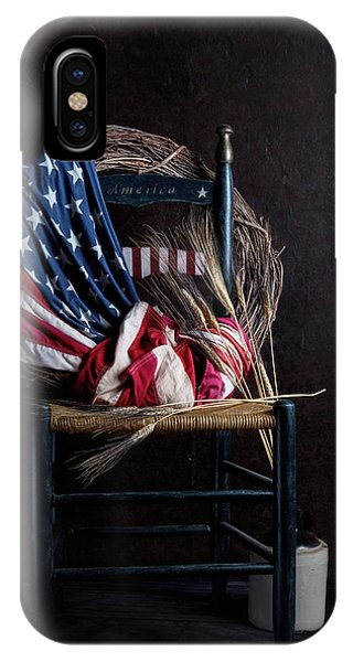 American Flag iPhone Case - Patriotic Decor by Tom Mc Nemar