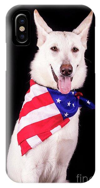 Patriotic Dog IPhone Case