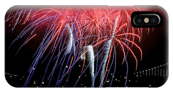 Patriotic Fireworks S F Bay IPhone Case