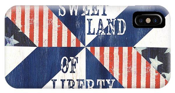 Election iPhone Case - Patriotic Quilt 3 by Debbie DeWitt