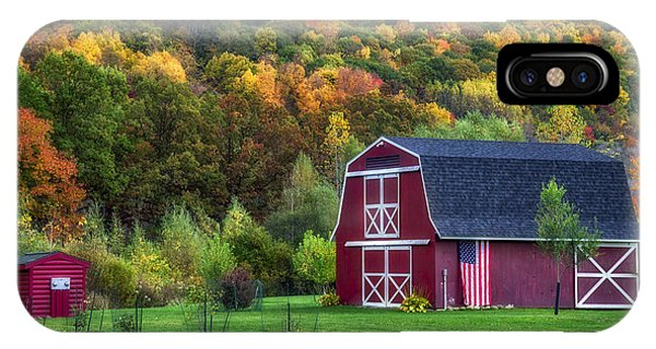 Patriotic Red Barn IPhone Case