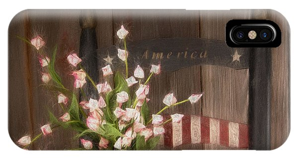 Proud iPhone Case - Patriotic Seating by Tom Mc Nemar