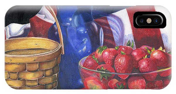 Patriotic Strawberries IPhone Case