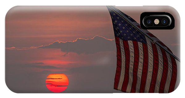 Patriotic Sunset IPhone Case