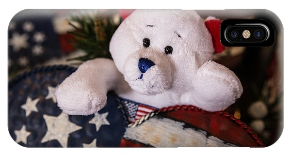 Patriotic Teddy Bear IPhone Case
