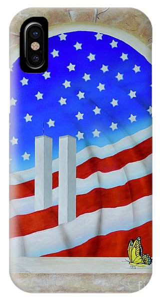 IPhone Case featuring the painting Patriotic View by Mary Scott