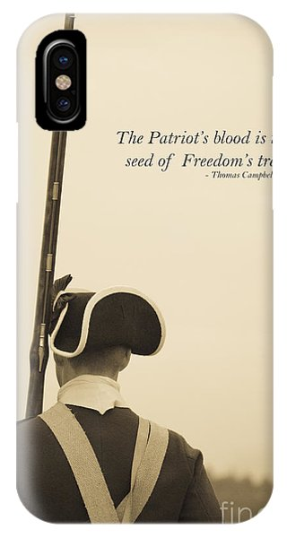 Revolutionary iPhone Case - Patriots Blood Memorial Day by Edward Fielding