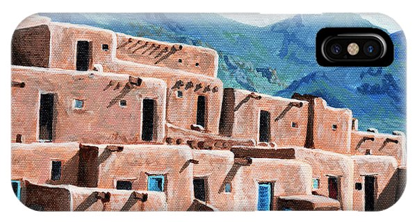 Aztec iPhone Case - Patrolling The Pueblo by Timithy L Gordon