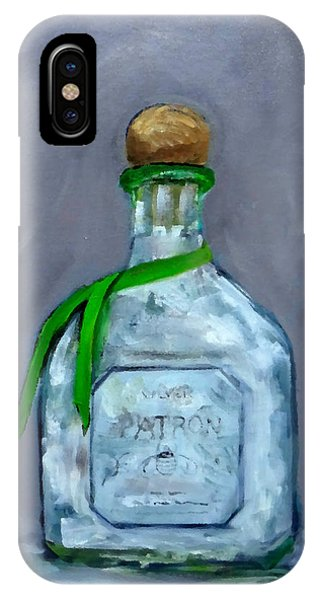 Patron Silver Tequila Bottle Man Cave  IPhone Case