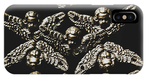 Wings iPhone Case - Pattern Of Antique Cupid Angels  by Jorgo Photography - Wall Art Gallery