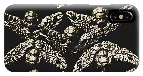 Cupid iPhone Case - Pattern Of Antique Cupid Angels  by Jorgo Photography - Wall Art Gallery